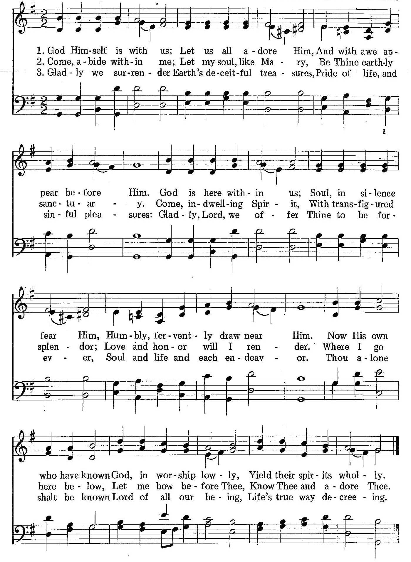 003 – God Himself Is With Us sheet music