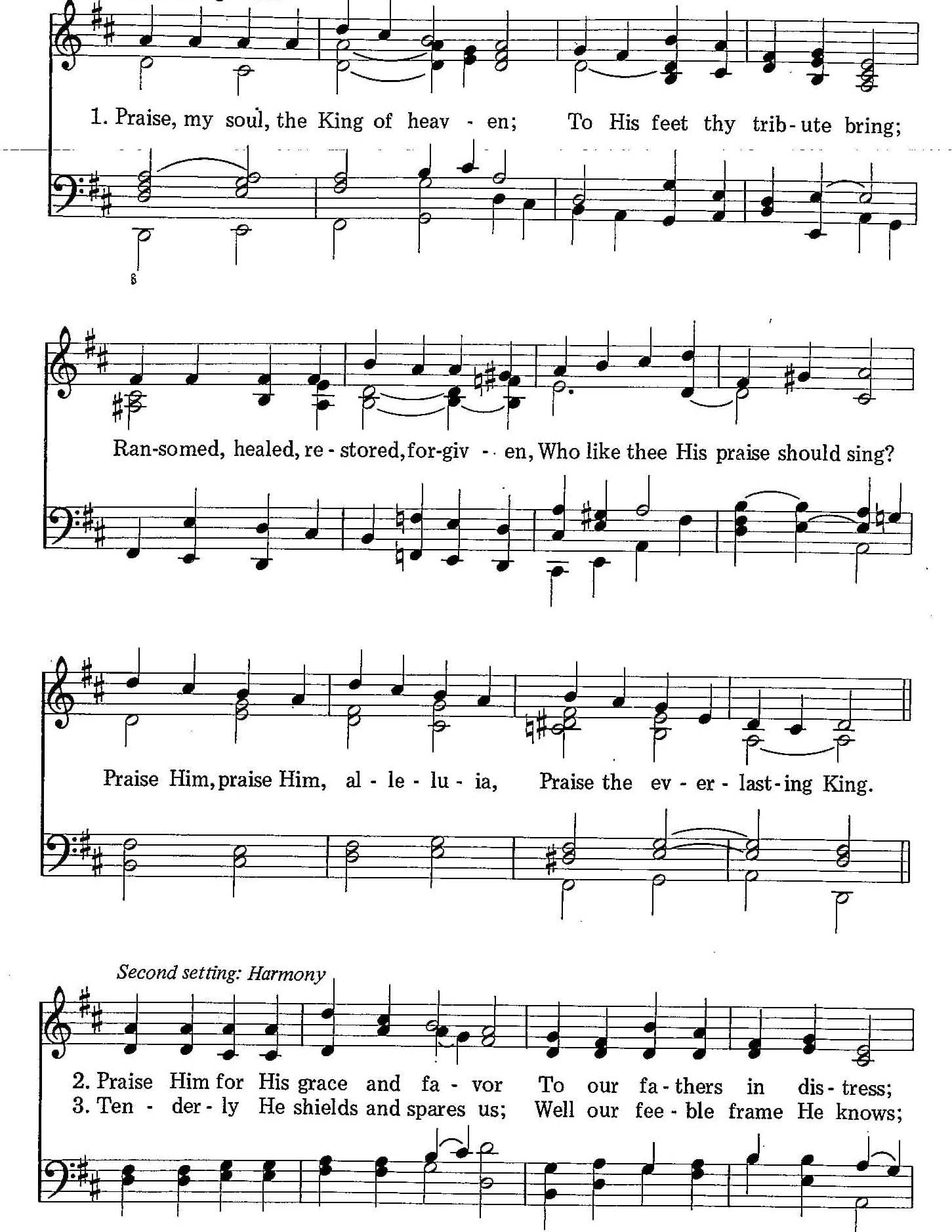 004 – Praise, My Soul, the King of Heaven sheet music