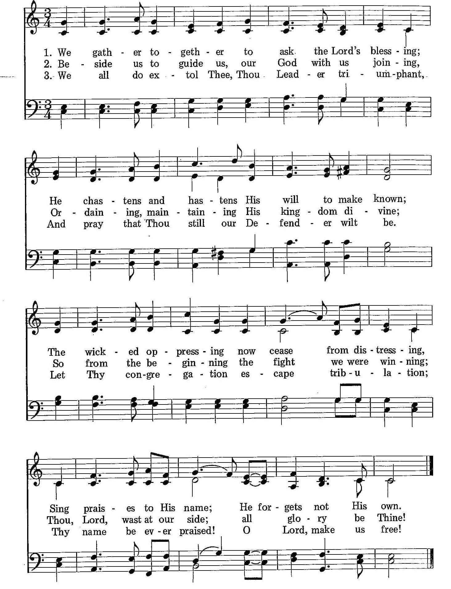 008 – We Gather Together sheet music