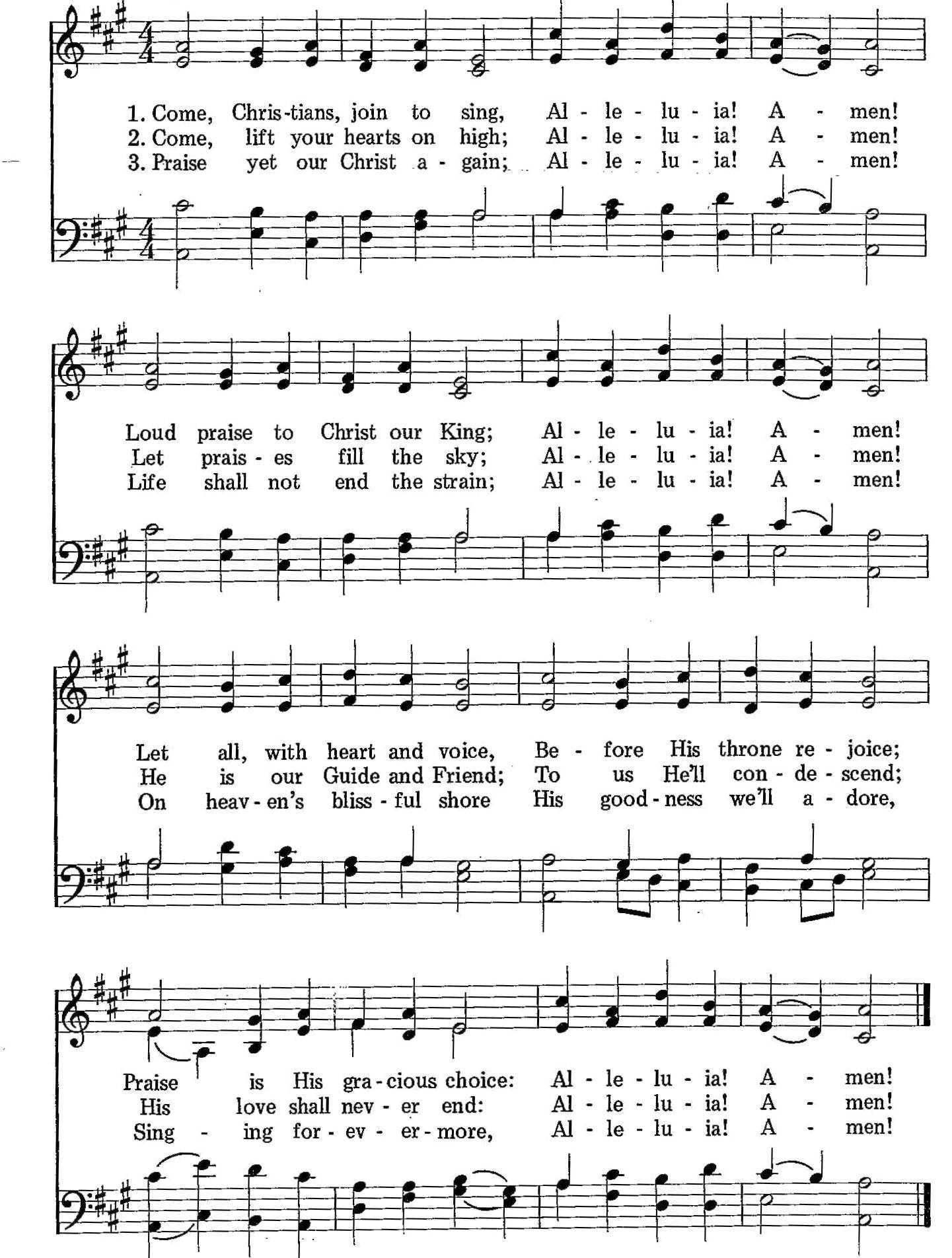 010 – Come, Christians, Join to SingSDA HYMNAL | SDA HYMNAL