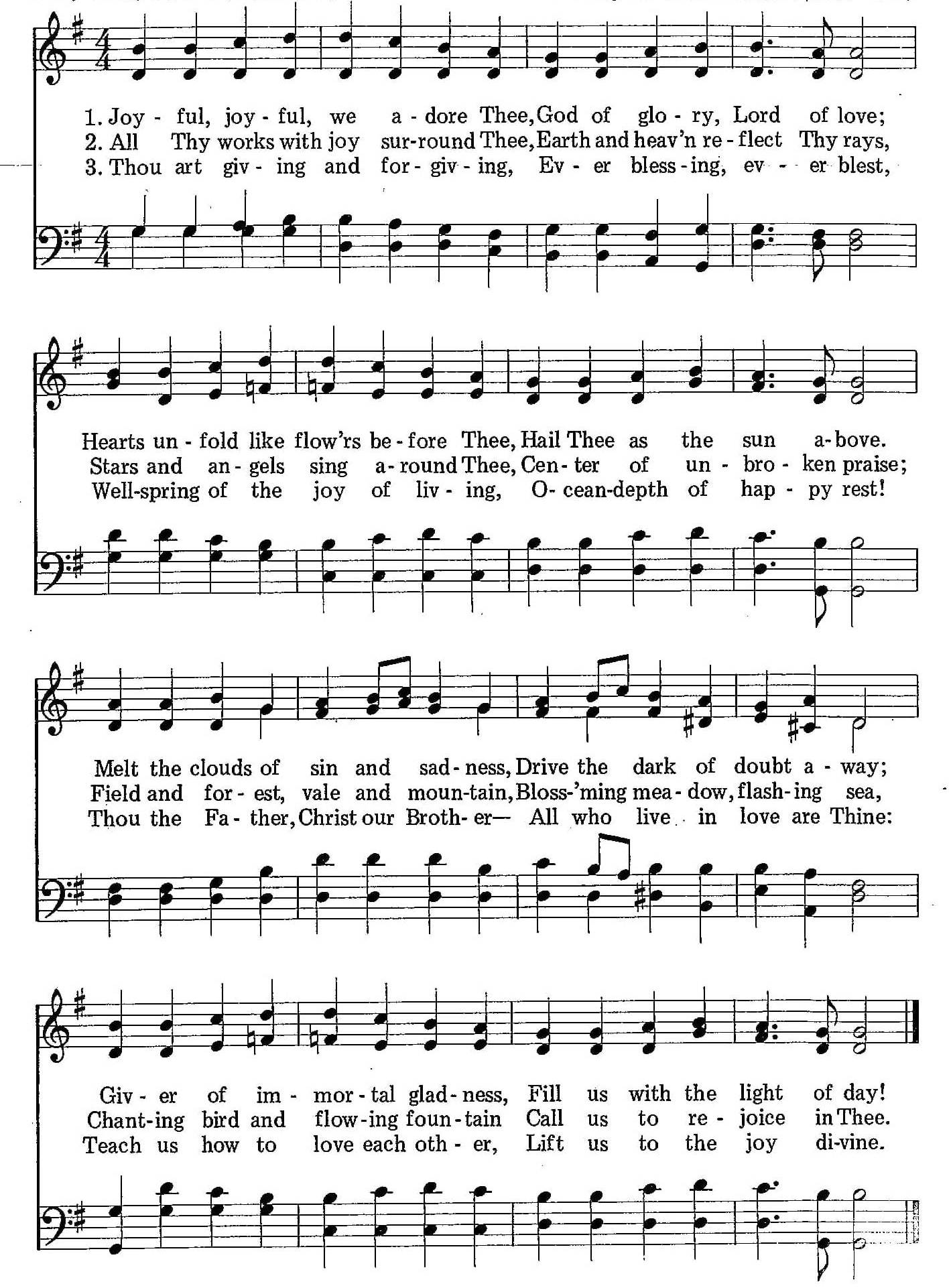 012 – Joyful, Joyful, We Adore Thee sheet music