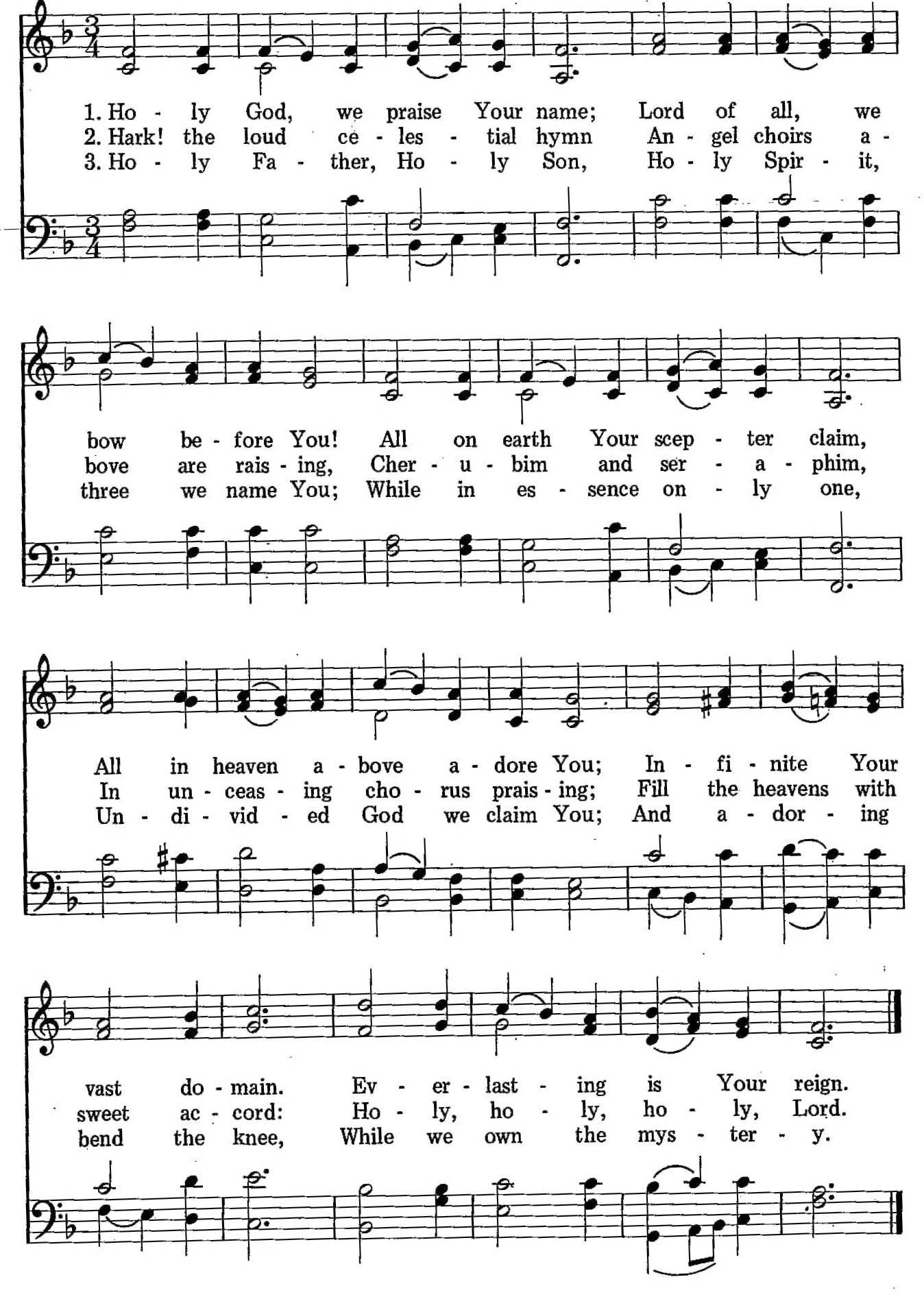 030 – Holy God, We Praise Your Name sheet music