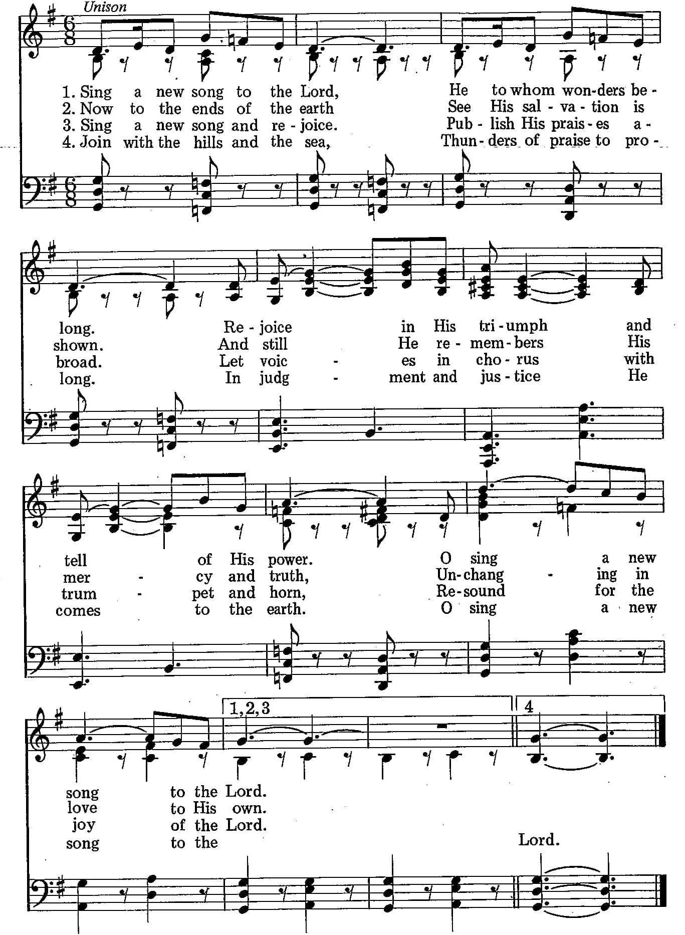033 – Sing a New Song to the Lord sheet music