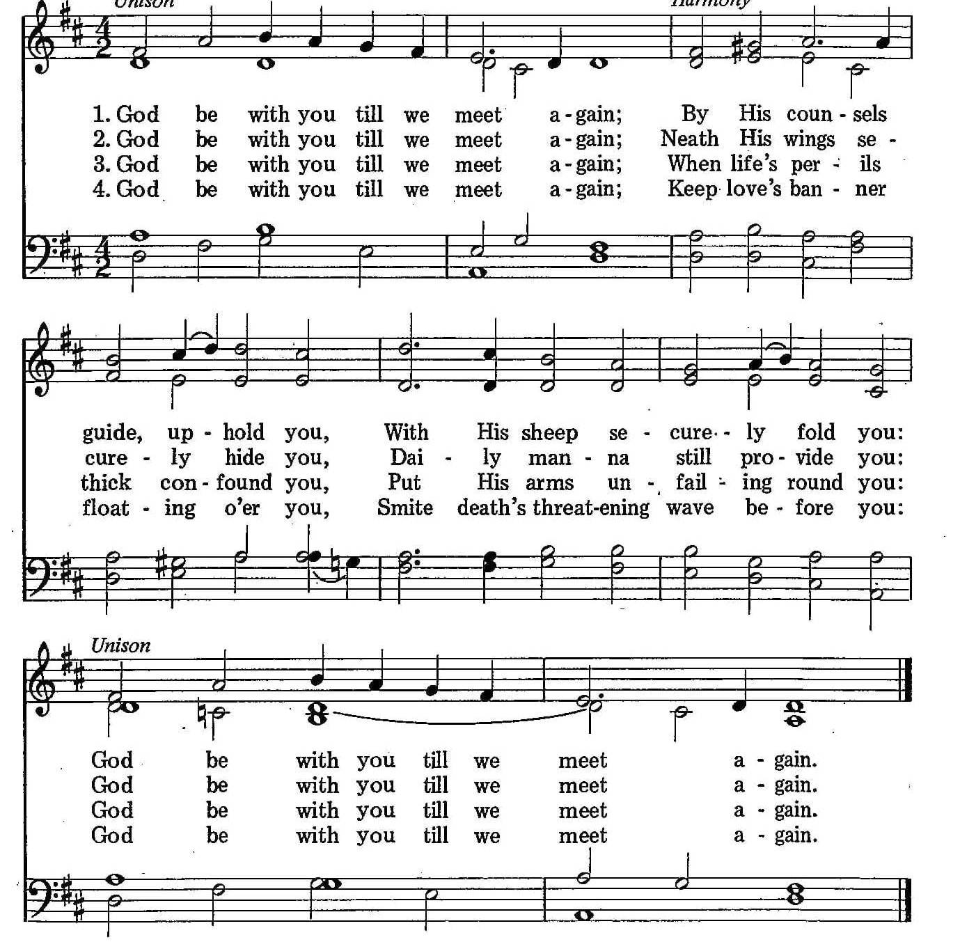 066 – God Be With You sheet music