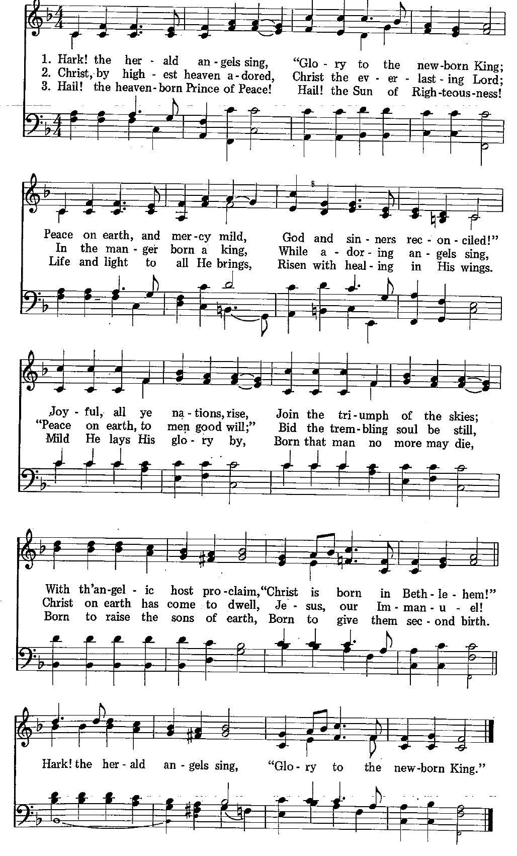 122 – Hark! the Herald Angels Sing sheet music